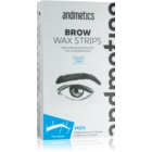andmetics Wax Strips Wachs-Enthaarungsbänder für die Augenbrauen