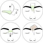 andmetics Wax Strips strisce depilatorie per sopracciglia uomo