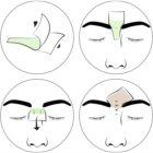andmetics Wax Strips voskové depilační pásky na obočí pro muže