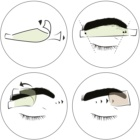 andmetics Wax Strips bandes de cire pour épilation des sourcils pour homme