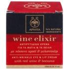 Apivita Wine Elixir Red Wine & Beeswax Anti-Rimpel Oog en Lip Contouren Crème