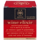 Apivita Wine Elixir Red Wine & Beeswax crème anti-rides contour yeux et lèvres