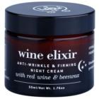 Apivita Wine Elixir Red Wine & Beeswax noćna krema za učvršćivanje protiv bora