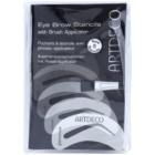Artdeco Eye Brow Stencil with Brush Applicator Eyebrow Brush with Stencils