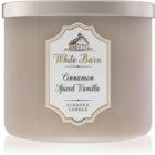 Bath & Body Works White Barn Cinnamon Spiced Vanilla bougie parfumée 411 g
