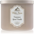Bath & Body Works White Barn Cinnamon Spiced Vanilla vonná sviečka 411 g