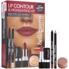 BelláPierre Lip Contour & Highlighting Kit Cosmetica Set  I.