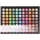 BHcosmetics 88 Color Shimmer paleta očních stínů se zrcátkem a aplikátorem
