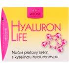 Bione Cosmetics Hyaluron Life Gesichtscreme für die Nacht mit Hyaluronsäure