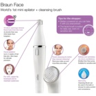 Braun Face 810 Epilator met Reinigingsborsteltje voor het Gezicht