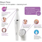Braun Face 830 Epilator with Cleansing Brush For Face