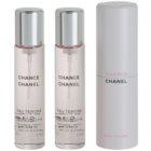 Chanel Chance Eau Tendre toaletní voda pro ženy 3 x 20 ml (1x plnitelná + 2x náplň)