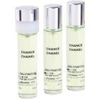 Chanel Chance Eau Fraîche Eau de Toilette para mulheres 3x20 ml (3 x recarga)