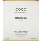 Chanel Coco Mademoiselle woda toaletowa dla kobiet 3x20 ml (1x napełnialny + 2x napełnienie)