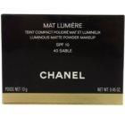 Chanel Mat Lumière Compact pudra pentru luminozitate