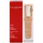 Clarins Face Make-Up True Radiance освітлюючий та зволожуючий тональний крем SPF15