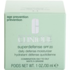 Clinique Superdefense crema hidratanta de zi cu protectie solara pentru ten mixt si gras