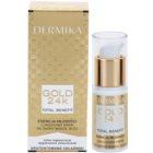 Dermika Gold 24k Total Benefit luxuriöse verjüngende Creme für die Augenpartien