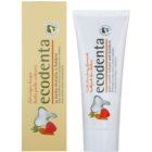 Ecodenta Kids παιδική οδοντόκρεμα με άρωμα από άγριες φράουλες και εκχύλισμα καρότου