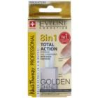 Eveline Cosmetics Nail Therapy Professional köröm kondicionáló arany csillogással 8 in 1