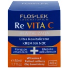 FlosLek Laboratorium Re Vita C 40+ intenzivní noční krém pro revitalizaci pleti