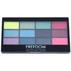 Freedom Pro 12 Chasing Rainbows paleta de sombras de ojos con aplicador