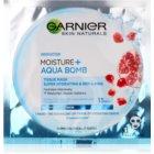 Garnier Skin Naturals Moisture+Aqua Bomb szuper hidratáló és feltöltő szövet arcmaszk az arcra