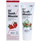 GC Tooth Mousse Strawberry crema protectora remineralizante para dientes sensibles  sin flúor