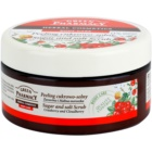 Green Pharmacy Body Care Cranberry & Cloudberry peeling cu zahar si sare