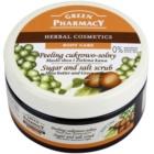 Green Pharmacy Body Care Shea Butter & Green Coffee exfoliante a base de azúcar y sal
