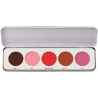 Kryolan Basic Face & Body Blusher Palette, 5 Shades