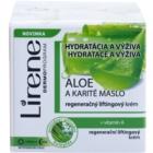 Lirene Moisture & Nourishment Regenerating Lifting Cream With Aloe Vera And Shea Butter