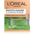 L'Oréal Paris Smooth Sugars Scrub esfoliante de limpeza anticravos