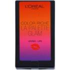 L'Oréal Paris Color Riche La Palette Glam paleta rúžov so zrkadielkom a aplikátorom