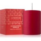 Luminum Candle Premium Aromatic Cinnamon Apple Scented Candle   Medium (Ø 60 - 80 mm, 32 h)