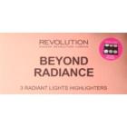 Makeup Revolution Beyond Radiance paleta rozjasňovačov so zrkadielkom