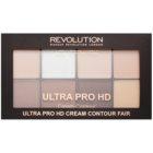 Makeup Revolution Ultra Pro HD Fair paleta za konture obraza kremasta