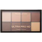 Makeup Revolution Ultra Pro HD Light Medium paleta na kontury obličeje krémová