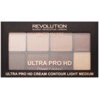 Makeup Revolution Ultra Pro HD Light Medium Paletă cremă pentru conturul feței
