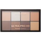 Makeup Revolution Ultra Pro HD Light Medium paleta na kontury obličeje pudrová