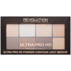 Makeup Revolution Ultra Pro HD Light Medium Paletă pudră pentru conturul feței