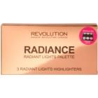 Makeup Revolution Radiance paleta rozjasňujúcich púdrov