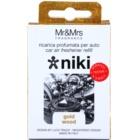 Mr & Mrs Fragrance Niki Gold Wood vůně do auta   náhradní náplň