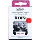 Mr & Mrs Fragrance Niki Silky Rose vůně do auta   náhradní náplň