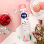 Nivea Wild Raspberry & White Tea Pampering Body Mousse for Intensive Hydratation