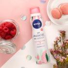 Nivea Wild Raspberry & White Tea заспокійлива піна для тіла для інтенсивного зволоження
