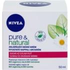 Nivea Visage Pure & Natural pomirjajoča dnevna krema za suho kožo