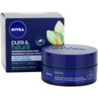 Nivea Visage Pure & Natural crema regeneradora de noche para todo tipo de pieles