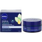 Nivea Visage Pure & Natural regenerierende Nachtcreme für alle Hauttypen