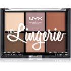 NYX Professional Makeup Lid Lingerie paleta de 6 sombras de transição